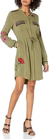 Desigual Womens 72V2WH5 Alabanza Woven Long Sleeve Dress Long-Sleeve Dress - Green