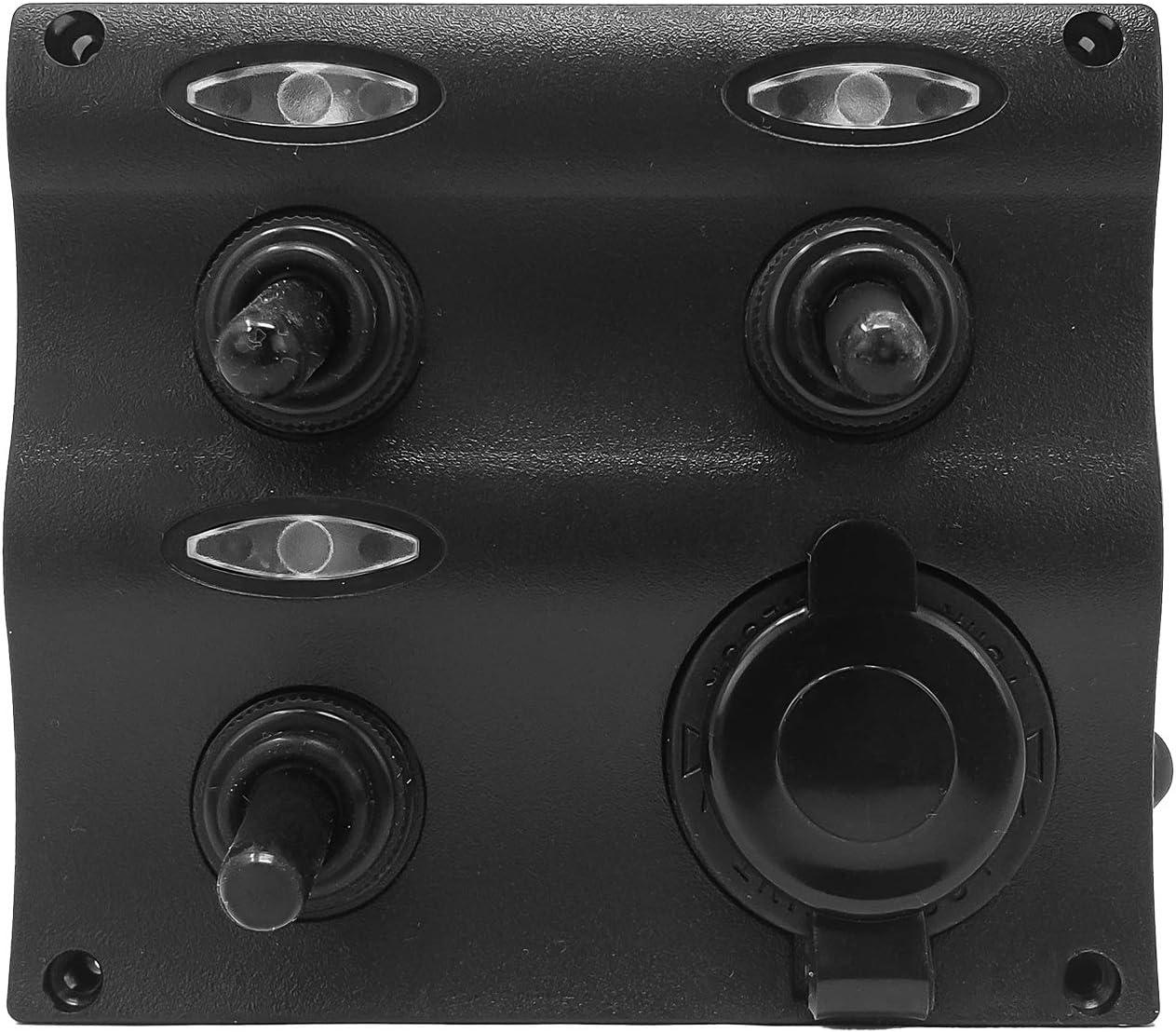 SEA DOG MARINE Switch Panel W//Gauge /& Lighter
