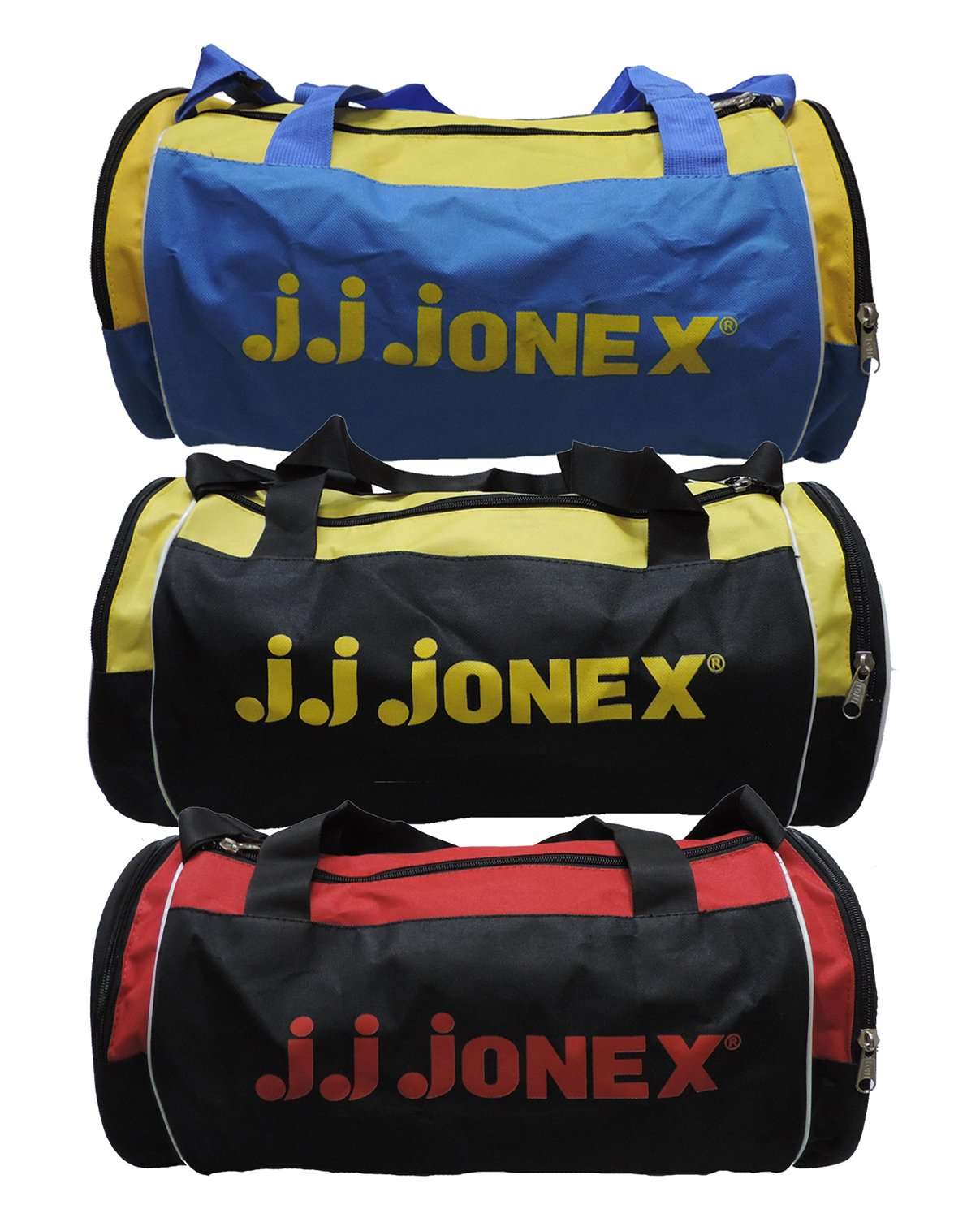 0119dcfd2858 JJ Jonex Polyester 22 cms Multi-Colour Soft Sided Gym Bags (Combo Pack of  3)  Amazon.in  Bags