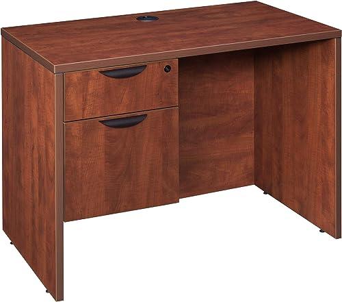Regency Desk Legacy Single Pedestal, 42 x 24 , Cherry