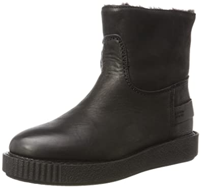 Bottes à Enfiler Femme - Noir - Schwarz (Black)Shabbies Amsterdam H1zBI664E