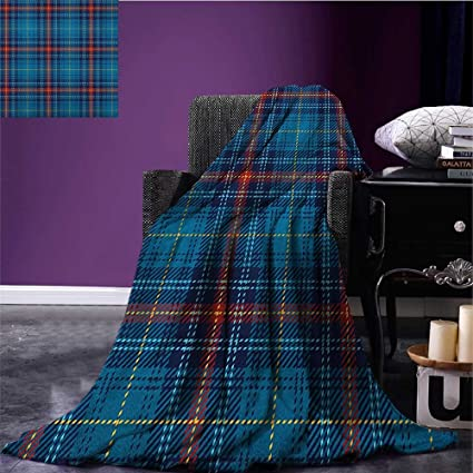 amazon com checkered couch blanket cultural pattern with thin lines