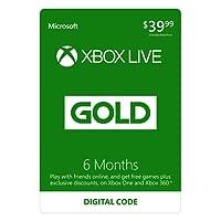 6 Month Xbox Live Gold Membership - [Digital Code]
