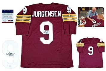 1c303a607 Signed Sonny Jurgensen Jersey - Custom LS - PSA/DNA Certified - Autographed  NFL Jerseys