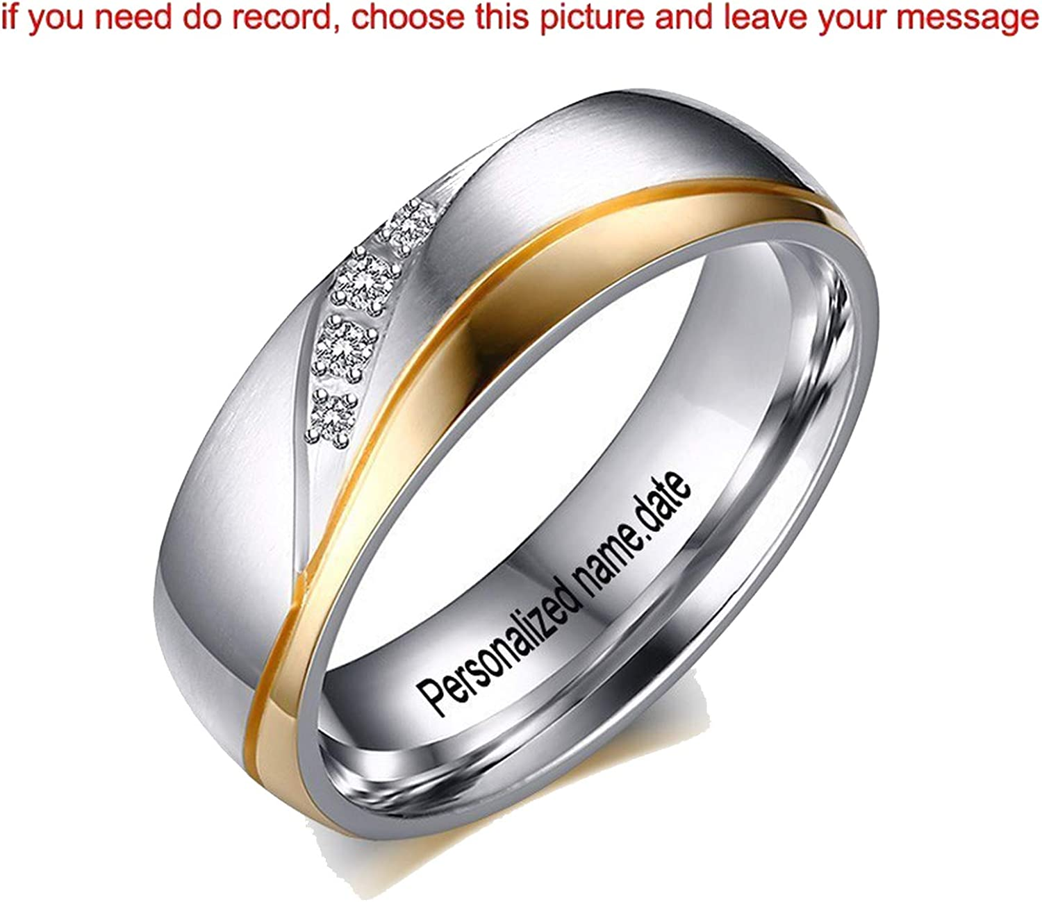 Amazon Com Dlnctd Personalized Romantic Wedding Rings For Lover