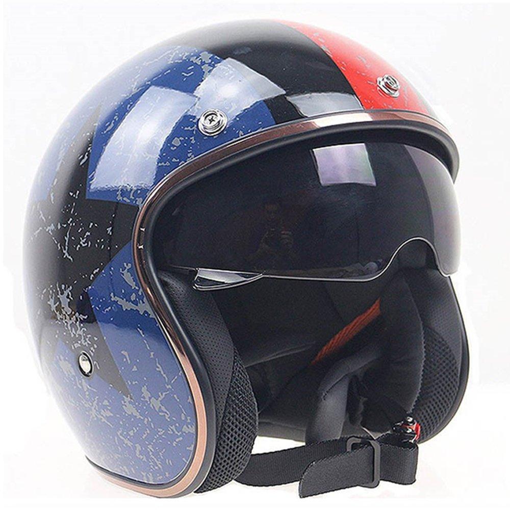 jiekai jk-510 Universal Harley Motocicleta Casco Visera moto cascos Casque diseño eléctrico motocicleta cara abierta lunares Retro para Mujeres Hombres ...