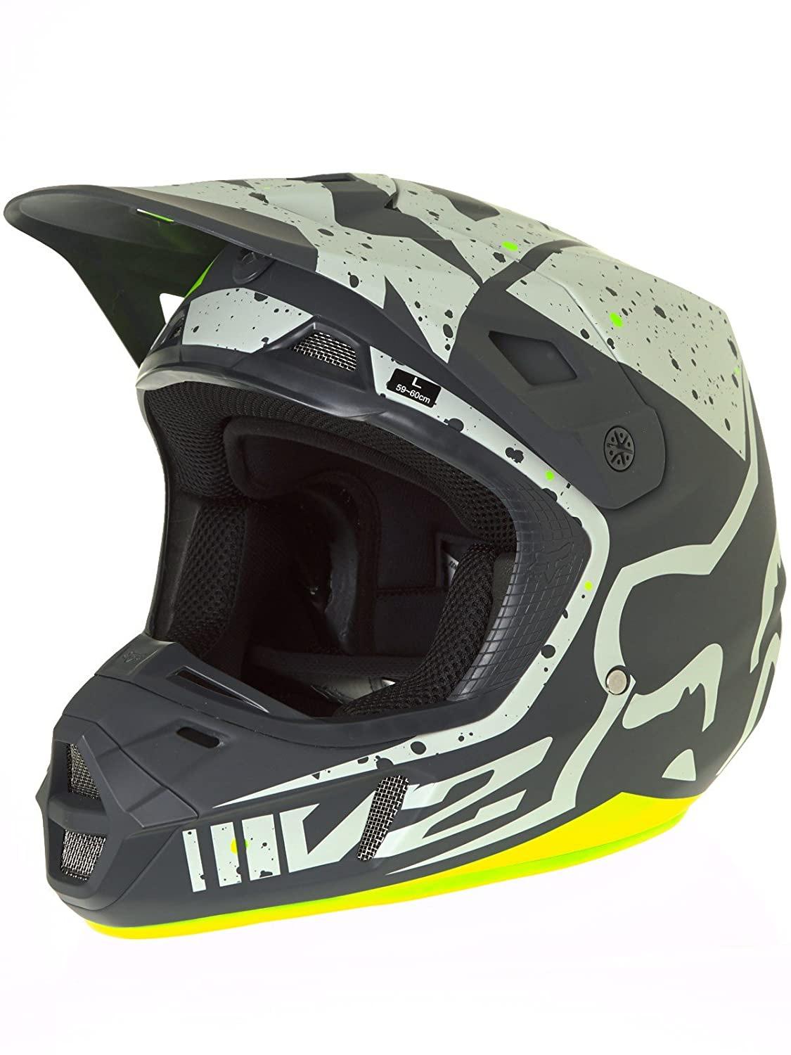 Casco Mx Fox 2017 V2 Nirv Gris-Amarillo (M , Gris): Fox: Amazon.es: Deportes y aire libre
