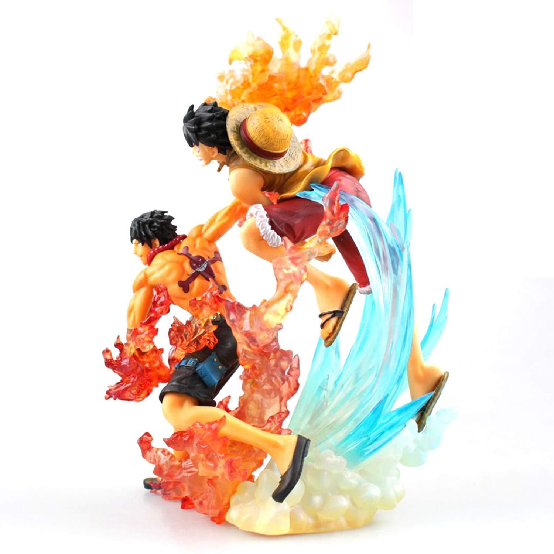 CGY Un Piece Action Figure, Jouet Modèle Luffy & Ace PVC Figure Action Figure de Collection Figure Cadeau pour Enfants Ados Hommes et Anime Fans
