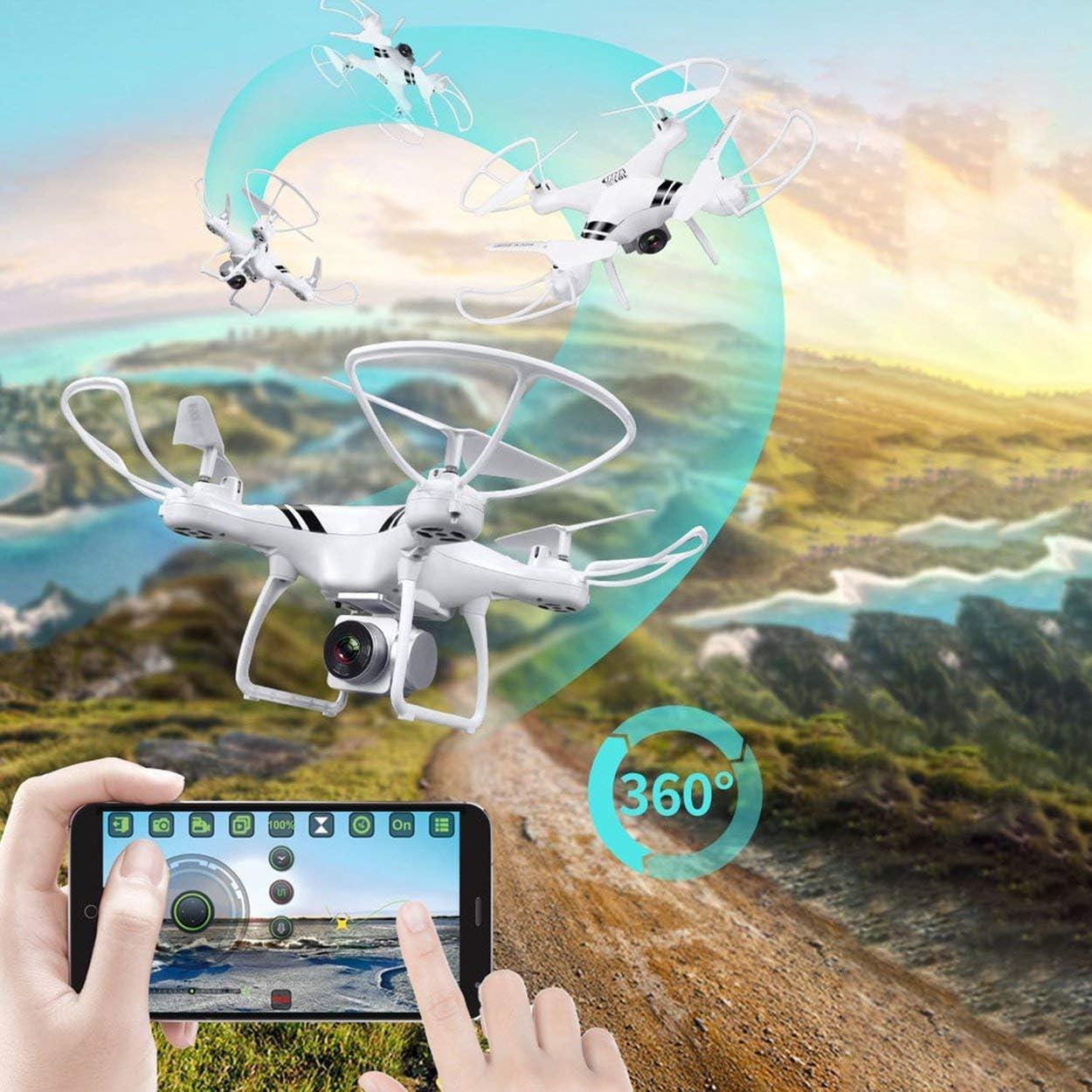 Lorenlli Fit KY101S RC Drone con WiFi FPV HD Regolabile Altitudine Altoparlante Hold One Key Return//Landing off RC Quadcopter Drone Senza Testa