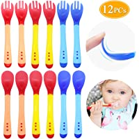 12PCs Baby Infant Spoon Fork