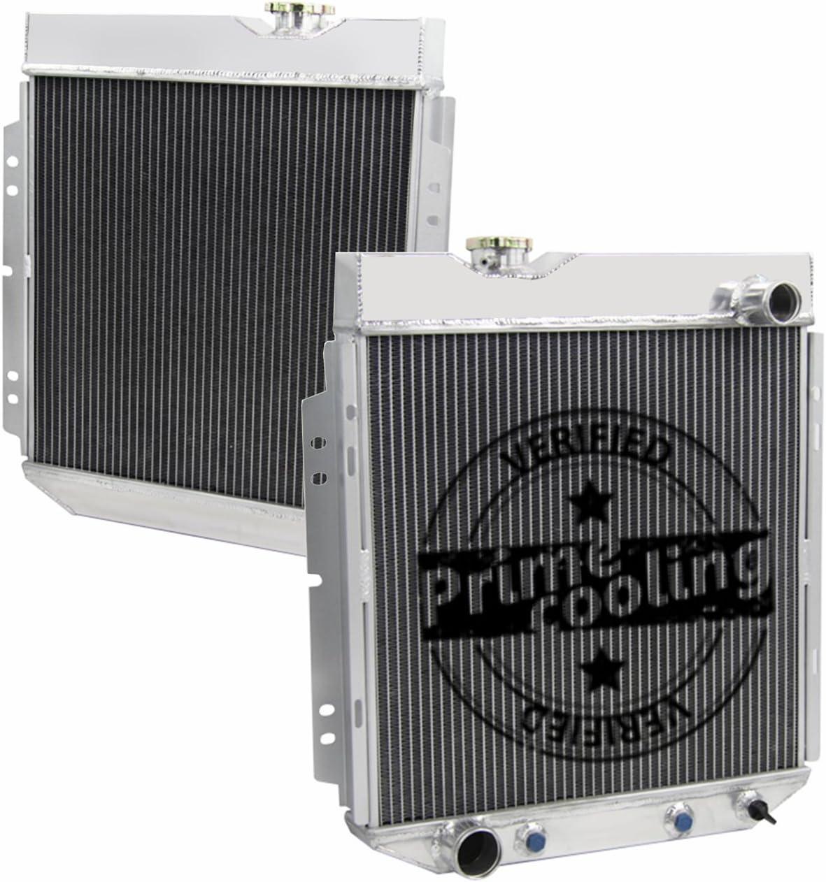 Primecooling 3 Row Aluminum Radiator for Falcon//Ranchero//Mustang//Comet V8 SWAP 1960-66