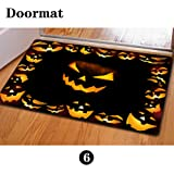 Mumeson Halloween Scary Sounds Doormat Bath mats Non-slip Kitchen Rugs and Mats 4x6