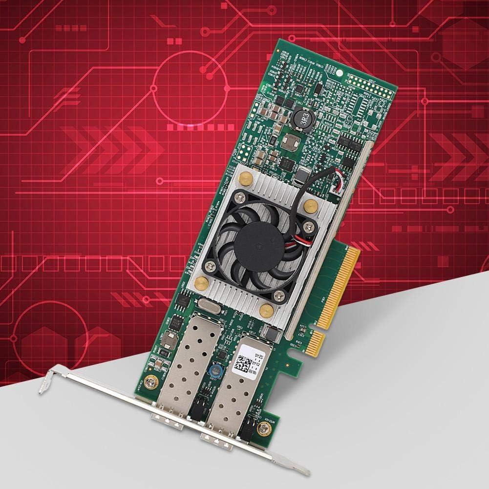 Tosuny pour Broadcom BCM57810S 10Gbps SFP Dual Port Network Card PCI-E X8 pour Windows//Red Hat Enterprise//Linux//SLES//VMware//Solaris