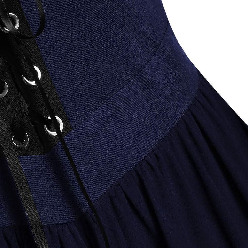 VRTUR Damen Trompeten/ärmel Prinzessin Renaissance Bodenl/änge Maxikleid Mittelalter Party Kleider Frauen Cosplay Dress Gothic Kleidung Lang Halloween Kost/üm
