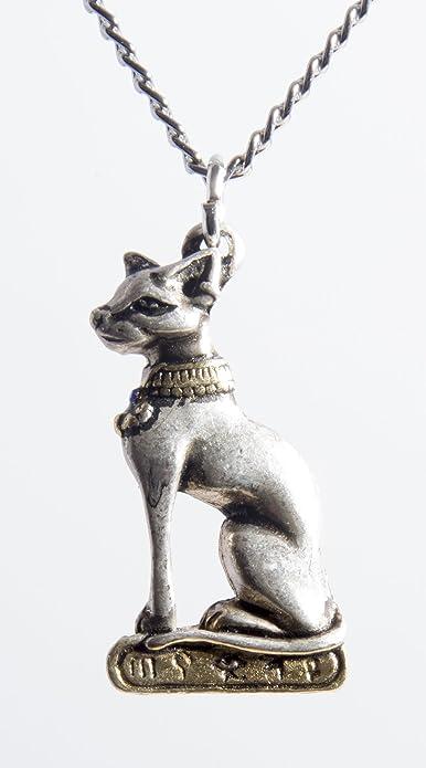 Guru shop diosa collar con colgante en forma de gato egipcio: Eastgate: Amazon.es: Joyería