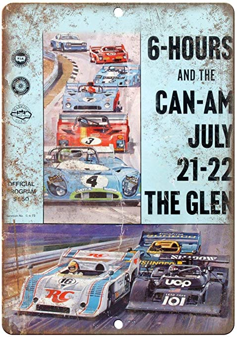 Can Am Watkins Glen Formula One Races Vintage Placa Vintage ...