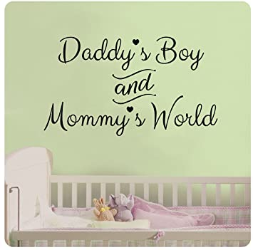 Amazoncom 24 Daddys Boy and Mommys World Wall Decal Sticker
