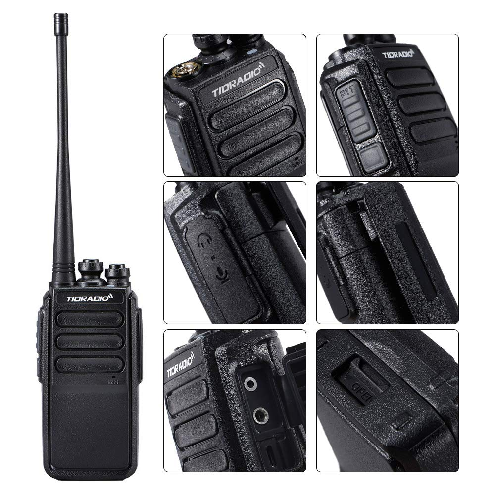 Walkie Talkies Rechargeable 2 Way Radio Micro USB Charge Plug 10 Walkie Talkies for Adults 10pcs by TIDRADIO (Image #3)