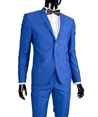 hot sales 30a38 2e4d6 Slim Fit Herrenanzug in Blau