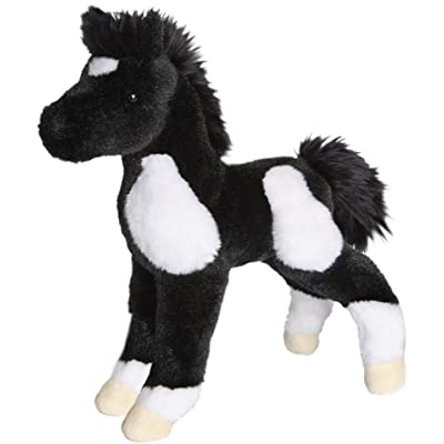 Douglas Runner Black & White Paint Foal Plush Stuffed Animal: Toys & Games