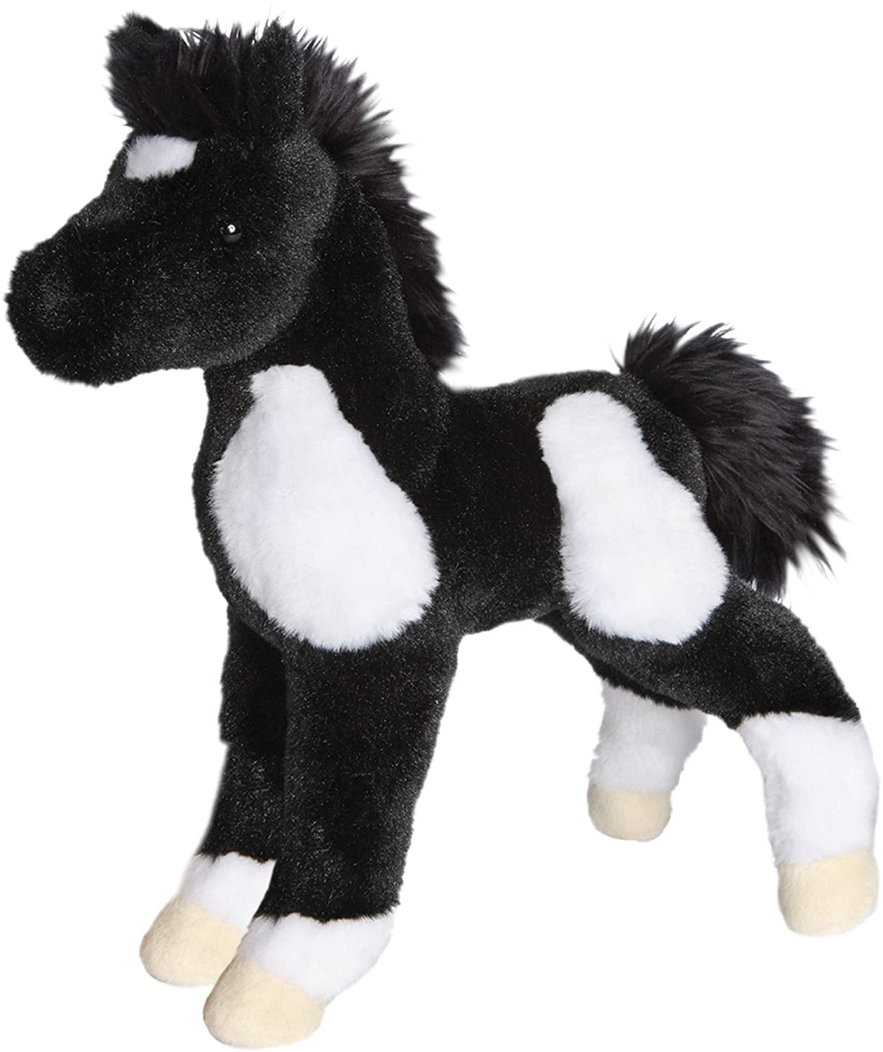 Cuddle Toys 4545 25 cm Long Runner Black and White Foal Plush Toy Douglas Co US