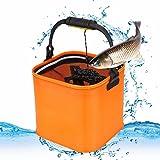 バッカン 釣り バケツ 水汲み 折りたたみ 洗濯用 メッシュカバー付き 活かし水くみ 軽量 大容量 多機能 アウトドア 伸縮 持ち運び便利 3色