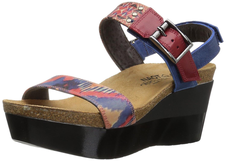 NAOT Women's Alpha Print Wedge Sandal B01HT7PMRM 42 M EU / 11 B(M) US|Blue/Red