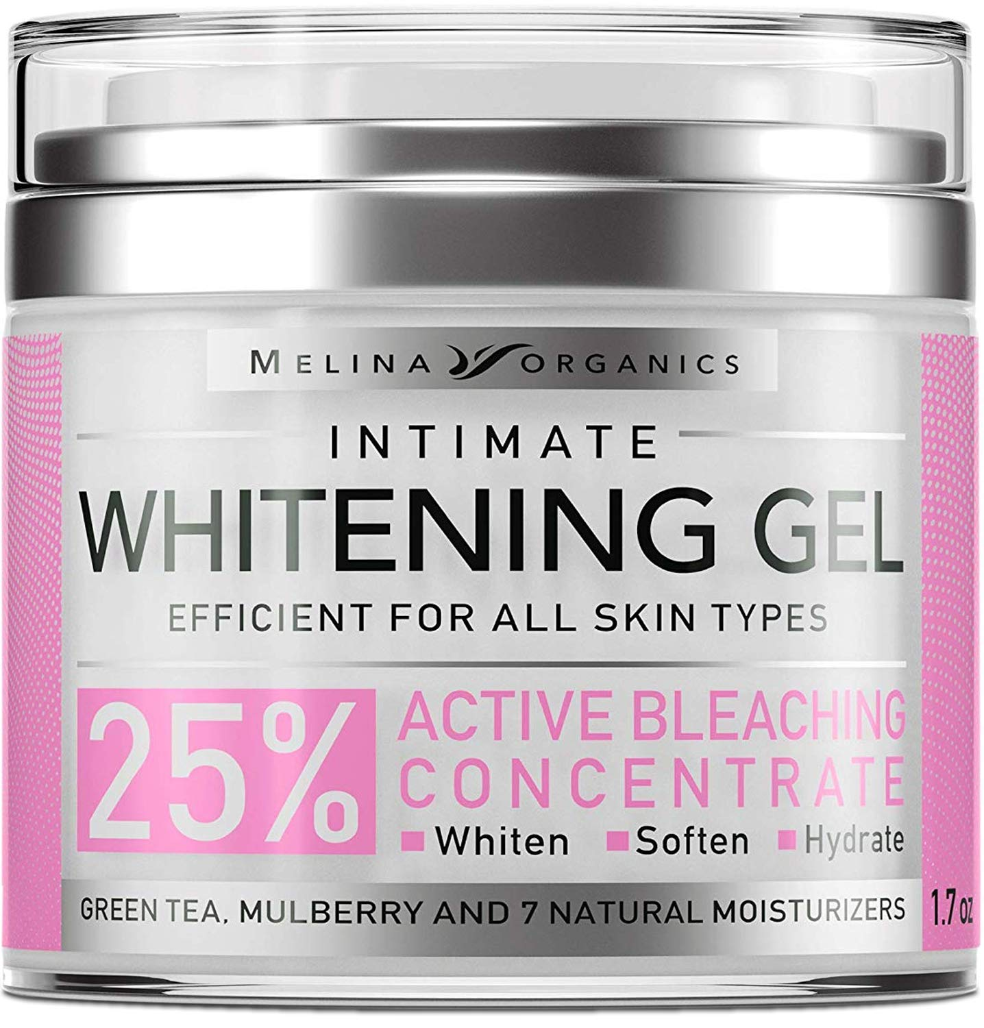 Whitening Cream for Intimate Areas - Made in USA - Potent Bleaching Cream with Arbutin (Glycosylated Hydroquinone), Hyaluronic Acid & Aloe Vera - Underarm Whitening and Intimate Bleaching - 1.7 Oz by Melina Organics