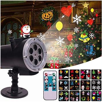 ZYRAY Proyector de luz LED Nevadas, Navidad Copo de Nieve ...