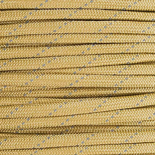 Reflective Type III 550 Paracord - Gold - 10 Ft Hank - 7 Strand Core - 100% Nylon, Parachute Cord, Commercial Paracord, Survival Cord by PARACORD PLANET (Image #1)