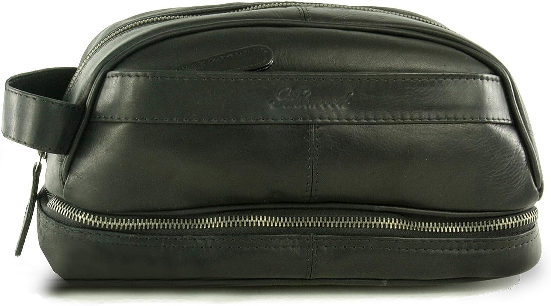 ASHWOOD - Highbury - R6-01 - Bolso Neceser/Bolsa de Aseo para Hombre - Cuero - Negro: Amazon.es: Equipaje
