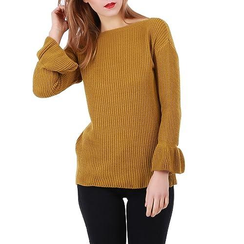 La Modeuse - Jerséi - para mujer marrón claro Talla única