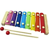 Generic Crazy Crafts Wooden Xylophone with 8 Notes for Kids, (Multicolour) Musical Toy