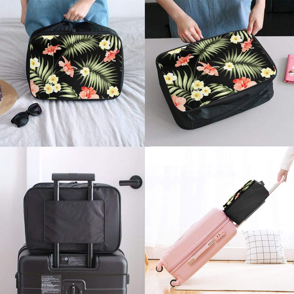 Travel Lightweight Waterproof Foldable Storage Carry Luggage Duffle Tote Bag Happy Halloween Purple Pumpkin