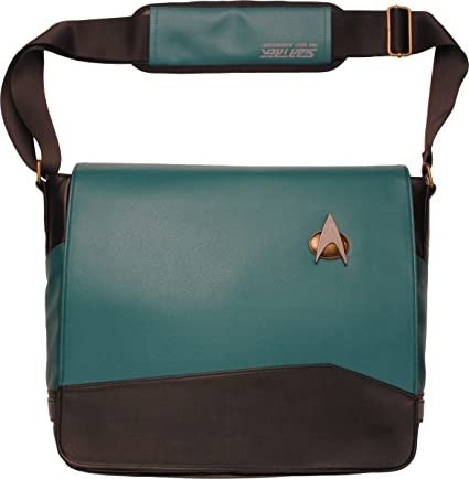 c01bc57e9acb Image Unavailable. Image not available for. Color  Star Trek - TNG Sciences  Blue - Uniform Messenger Bag