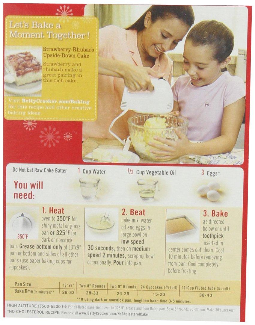Betty crocker cake mix recipe on box