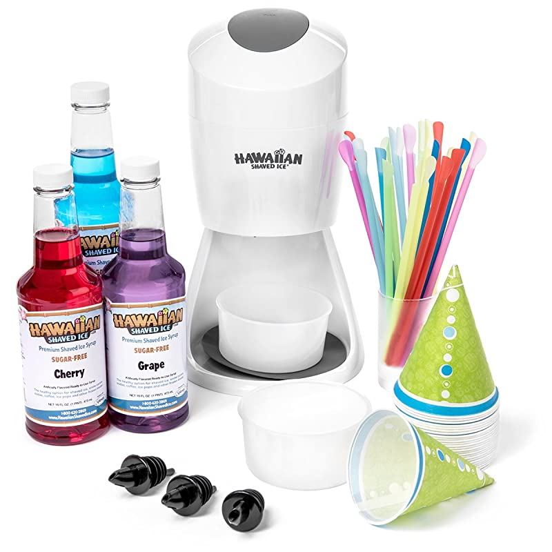 Hawaiian Shaved Ice And Snow Cone Machine Party Package Review
