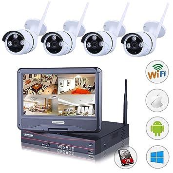 Seguro de energía casa sistema de circuito cerrado de televisión inalámbrico con monitor sistemas de cámara