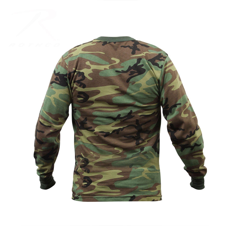 Woodland Camo X-Large Rothco Long Sleeve T-Shirt