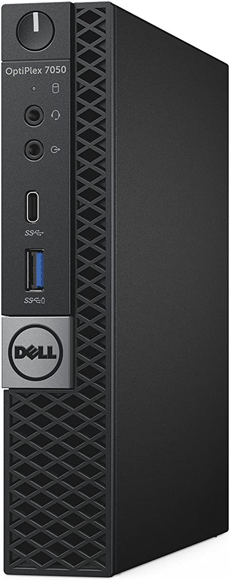 Dell OptiPlex 7050 Micro Form Factor Desktop Computer, Intel Core i7-7700 up to 4.20 GHz, 16GB DDR4 (2x8GB), 256GB Solid State Drive, Windows 10 Pro
