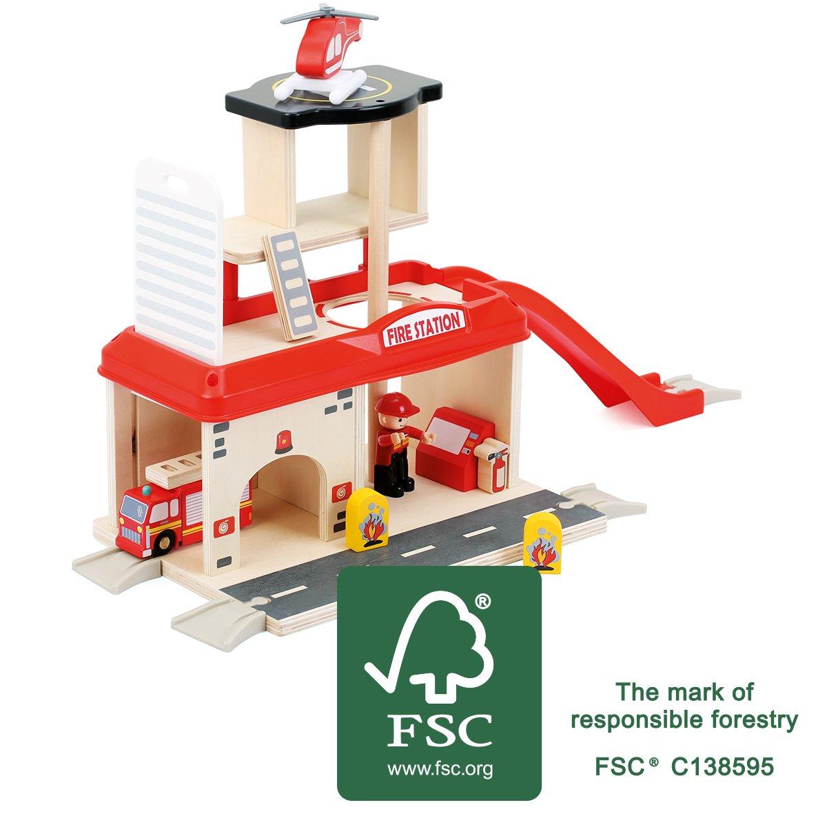 Feuerwehrstation Holz - Small Foot Feuerwache aus Holz