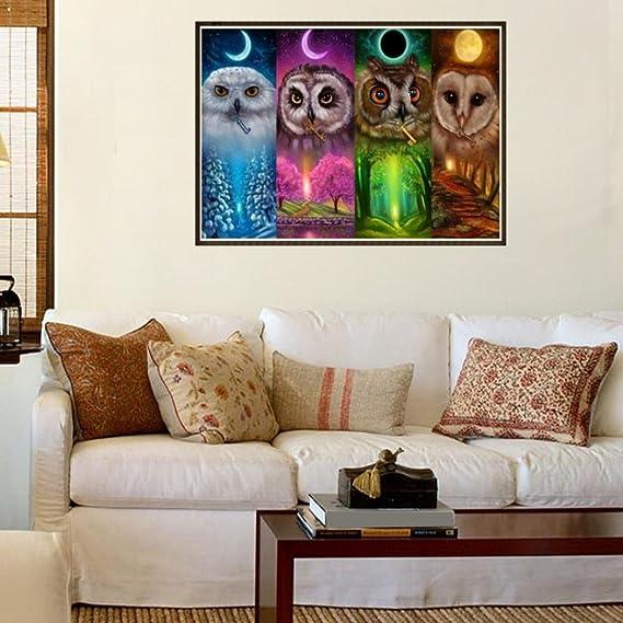 odejoy DIY 5d Diamante Pintura Punto de Cruz con pedrería Arts Craft bordado Diamante Painting autoadhesivo la habitación decoración de la pared, ...