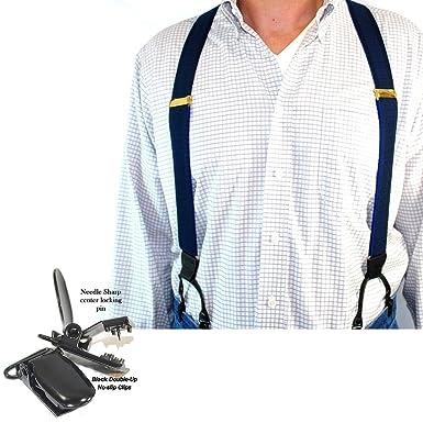 35a2eed81 Hold-Ups Indigo Blue Dual-clip Suspenders in Tone-on-tone Jacquard ...