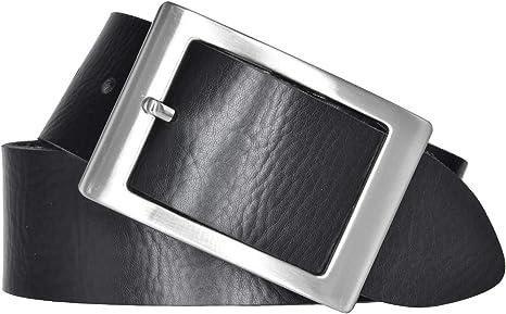 Bernd Götz - Cinturón de piel para mujer, 40 mm, piel napa, se puede acortar, color negro