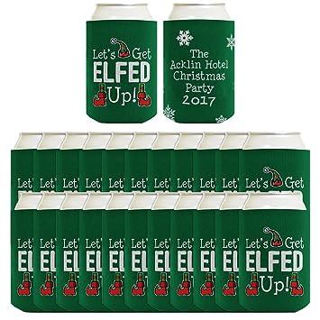 Personalizado Navidad lámpara puede tu texto elfo lámpara puede bebidas Coolers Coolies: Amazon.es: Hogar