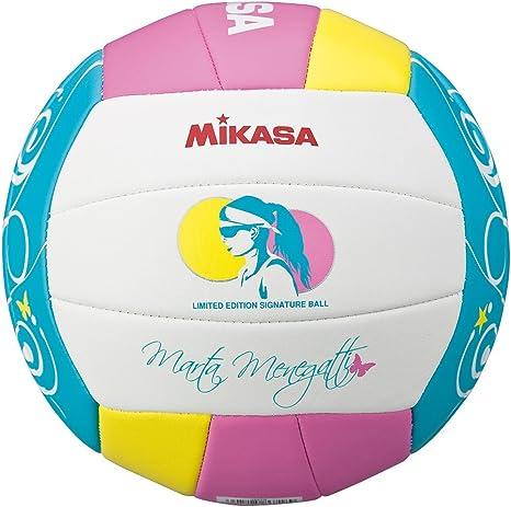 MIKASA VMT5 Balón de Voleibol, Adultos Unisex, Blanco, Rosa y Azul ...