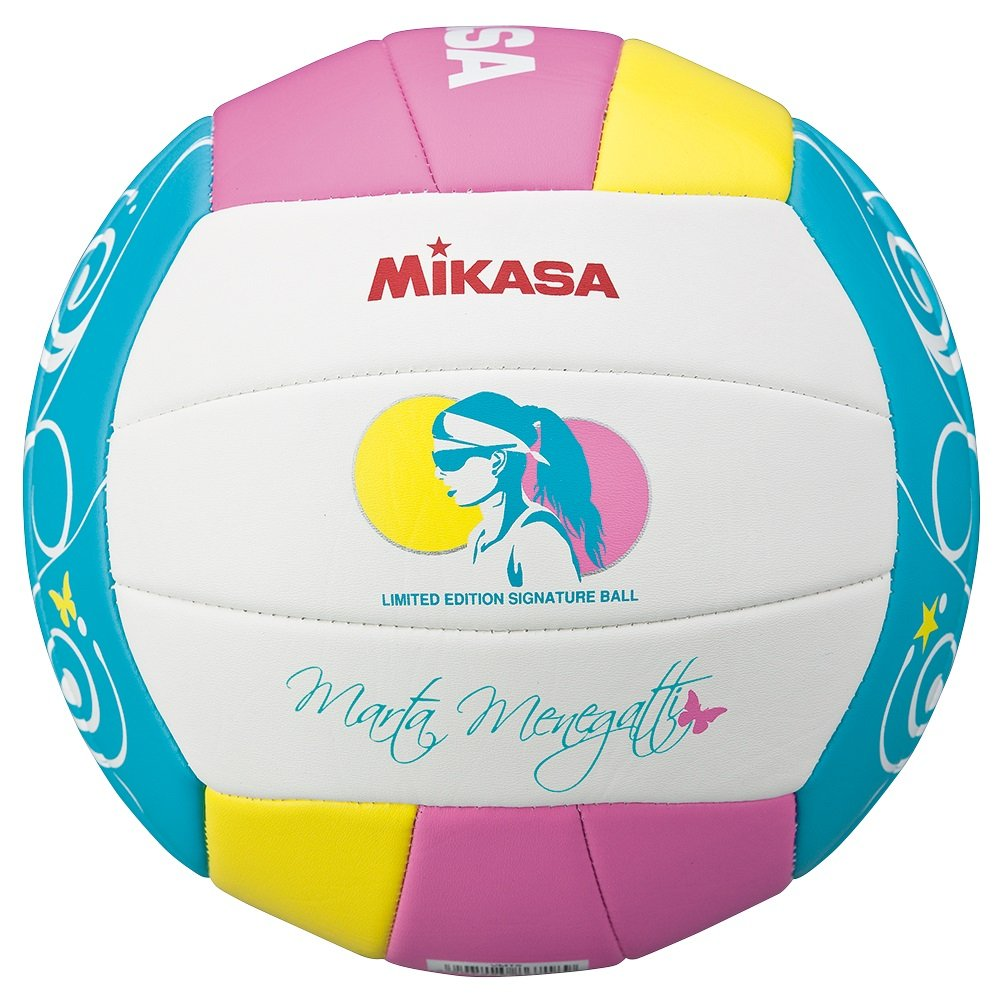 Mikasa VMT5 - Balón de Voleibol, Color Blanco/Rosa / Azul, Talla 5 1634