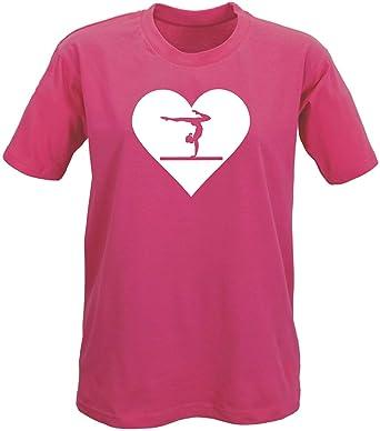 Childrens - Girls Fuchsia Pink Gymnastics T-Shirt / Top 3-13 years ...