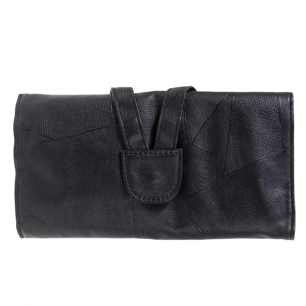Jocestyle 12/18/24 Slots Professional Cosmetic Makeup Brush PU Leather Holder Bag Travel Storage Organizer Pouch Case Black