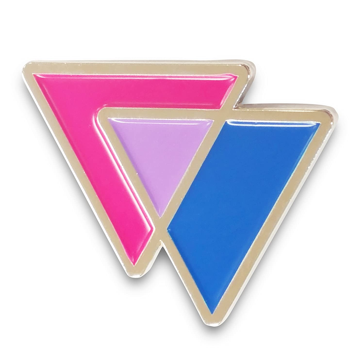 Amazon.com: Bisexual Triangles Biangles Pink Lavender Blue Enamel Pin:  Jewelry